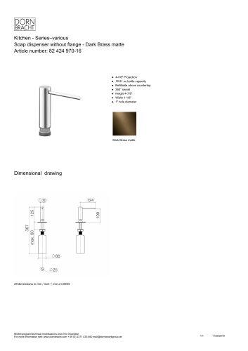 DORNBRACHT 所有产品目录和PDF技术手册