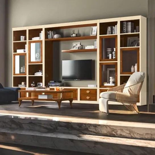 Richiedi prezzo · parete attrezzata le mimose 3 classica di le fablier. Traditional Tv Wall Unit Le Mimose Le Fablier Lacquered Wood Modular
