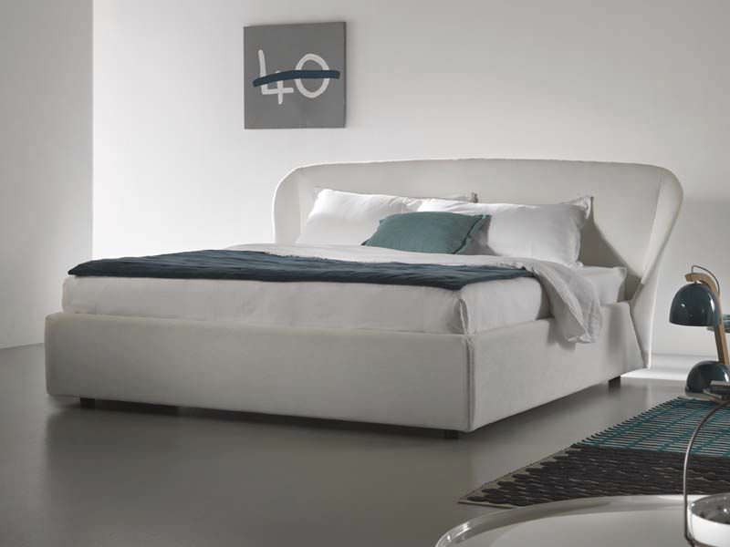 double bed contemporary upholstered