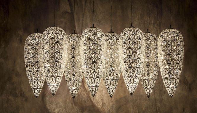 Original Design Chandelier Crystal Stainless Steel Halogen Arabesque Lightfall Sensation Vgnewtrend