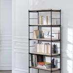 Contemporary Bookcase Oak Metal Lacquered Mdf