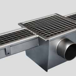 Kitchen Drain Hood Design Drainage Channel Floor Stainless Steel With Grating 2150