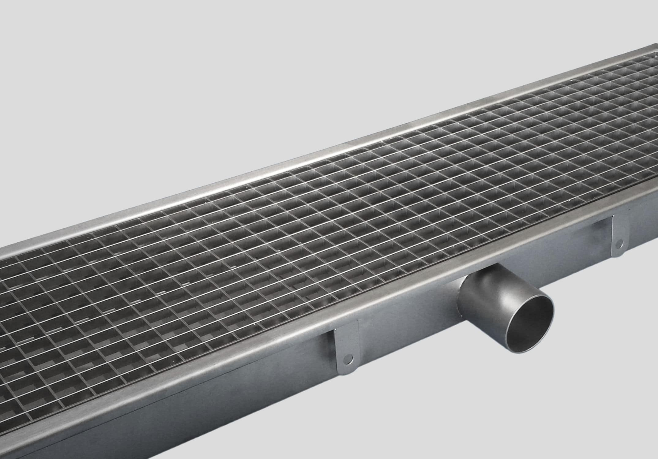 kitchen drain pacific fan drainage channel stainless steel with grating 0810