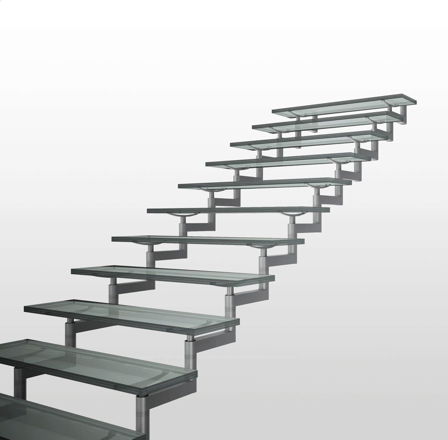 Quarter Turn Staircase Backbone Double Iam Design Stainless   Steel Steps For Stairs   Chequer Plate   Fabricated   Wire Mesh   Prefabricated   Corrugated Metal