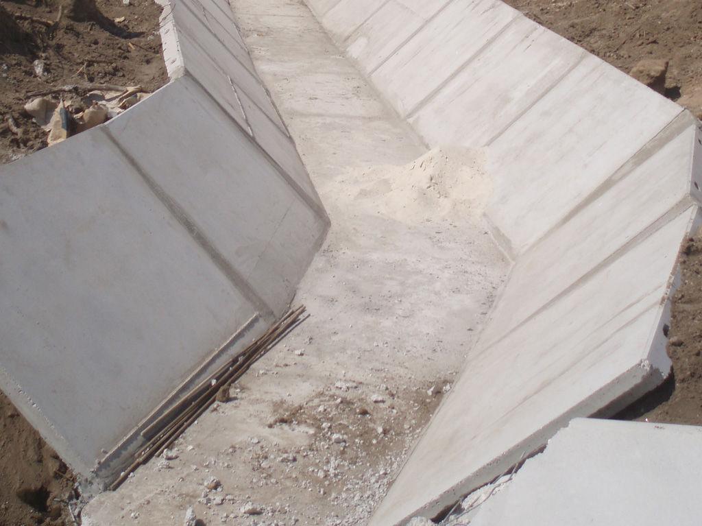 Concrete channel - TRAPEZOIDAL - Farcimar - irrigation / rainwater