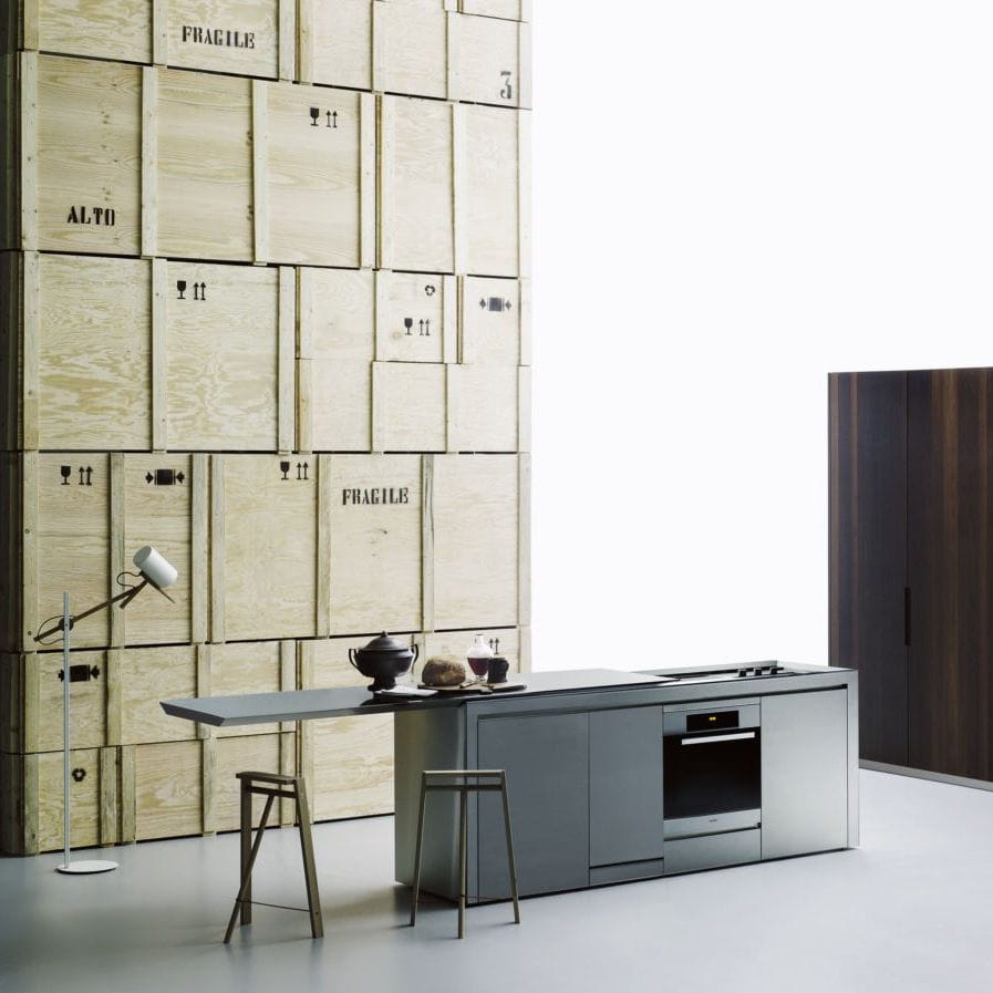 Cuisine Salinas Boffi Prix Contemporary Kitchen Wooden Stainless Steel Corian K2 By