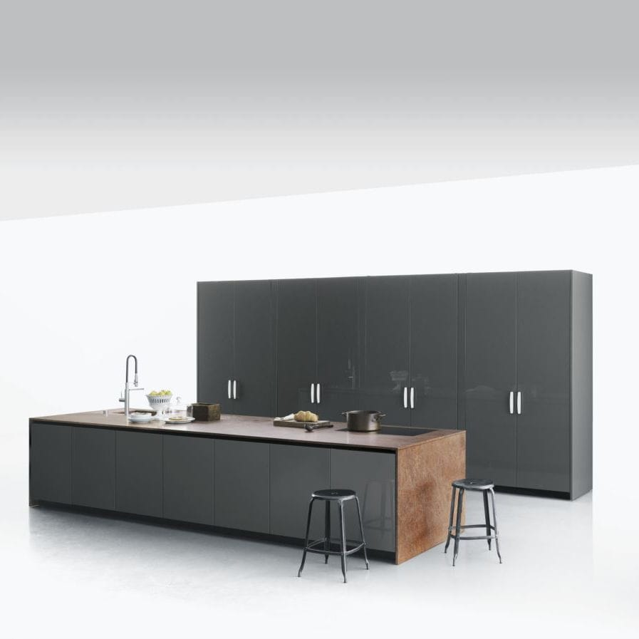 Cuisine Salinas Boffi Prix Contemporary Kitchen Wooden Glass Stainless Steel Xila By