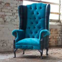 Tartan Chesterfield Sofa Leather And Loveseat For Sale Armchair Fabric Wing High Back Moray
