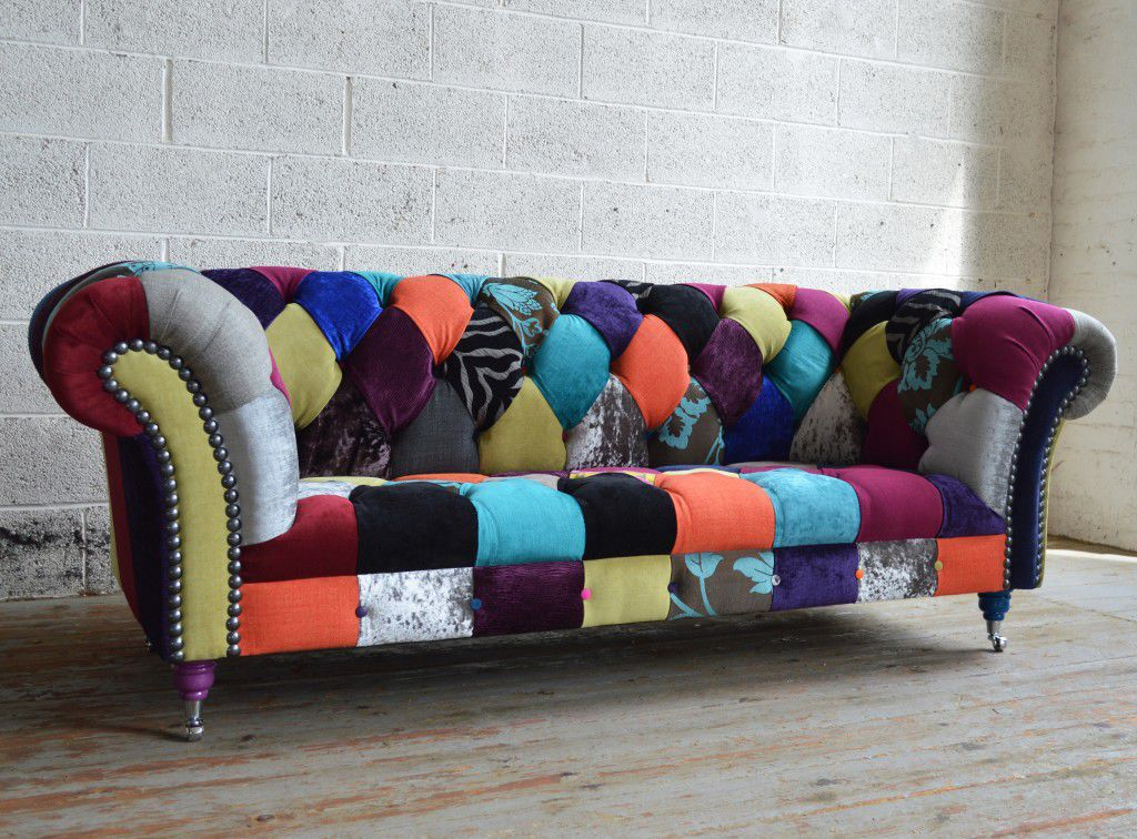 chesterfield sofa material animal print slipcovers chromed metal fabric 2 person walton