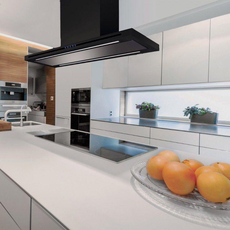 island kitchen hood replace cabinet doors range with built in lighting la 90 linea isl