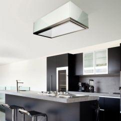 Island Kitchen Hood Cabinet Countertop Range With Built In Lighting Original Design La 120 Lumen