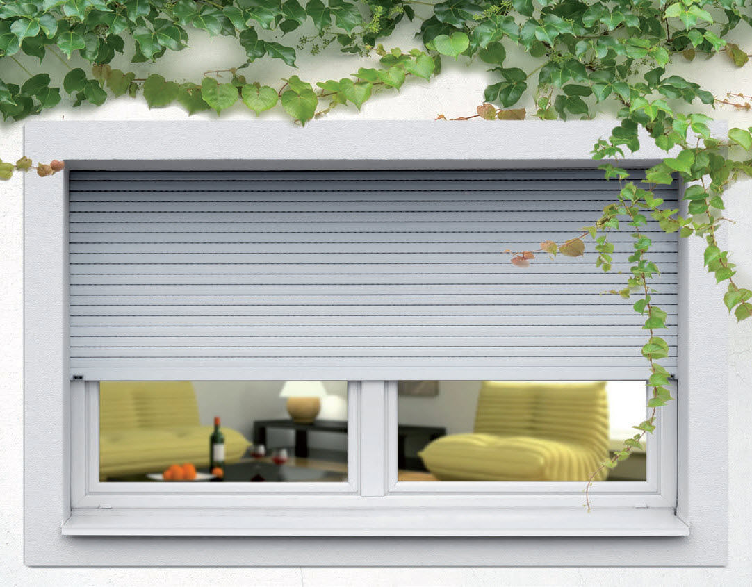 Roller Shutter Extruded Aluminum Window Security Ae