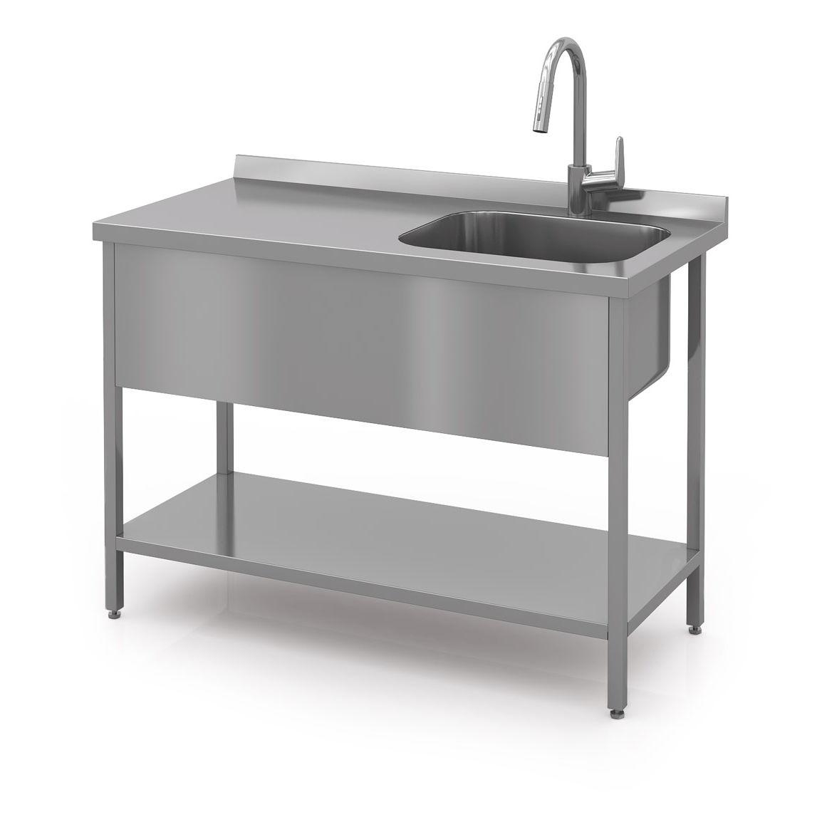 stainless steel prep table modern