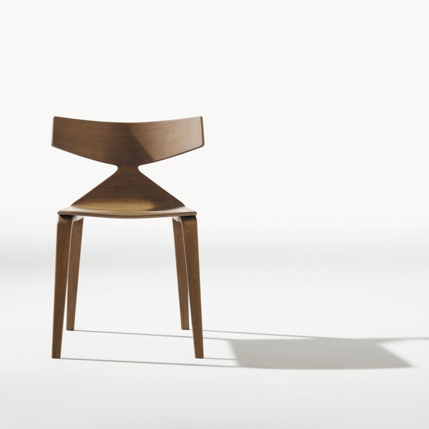 Contemporary Chair Stackable Bentwood Stained Wood