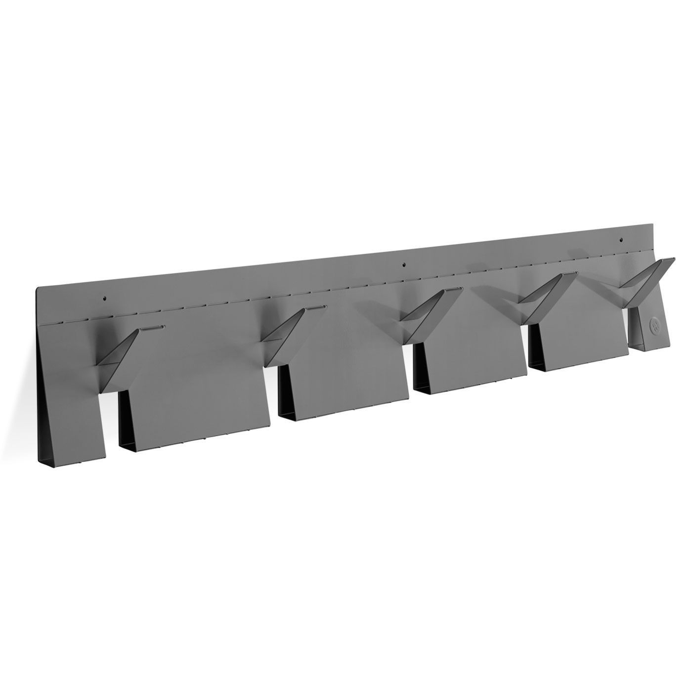 wall mounted coat rack contemporary powder coated steel 2d 3d blu dot