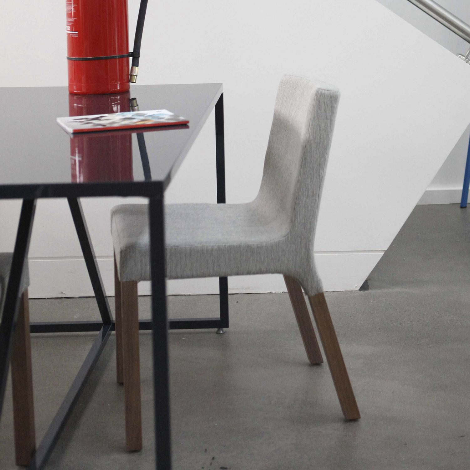 blu dot chairs fairfield chair prices contemporary upholstered walnut hardwood knicker