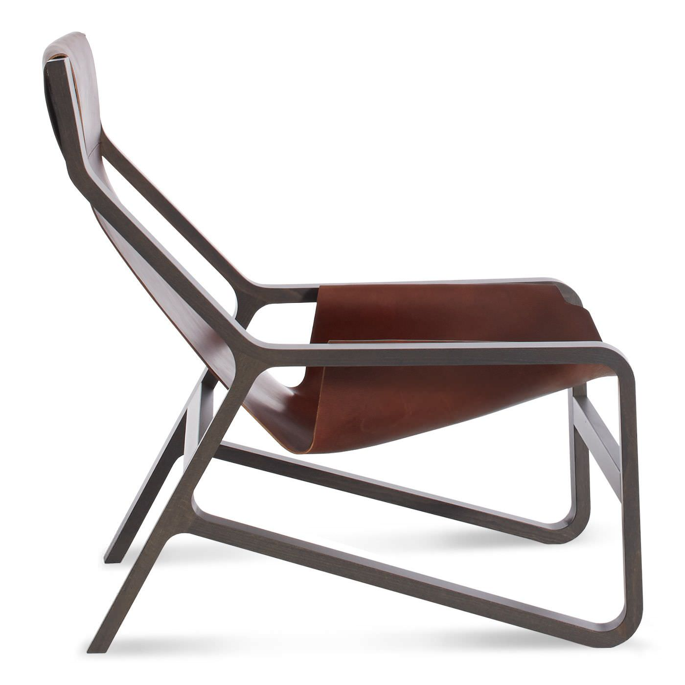 Leather And Wood Chair Contemporary Lounge Chair Beech Solid Wood Leather