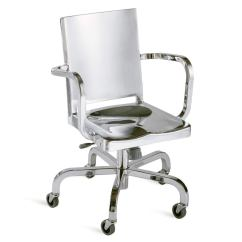 Office Chair Steel Base With Wheels Felt Pads Contemporary On Casters Star Metal Hudson Hudswv Ap