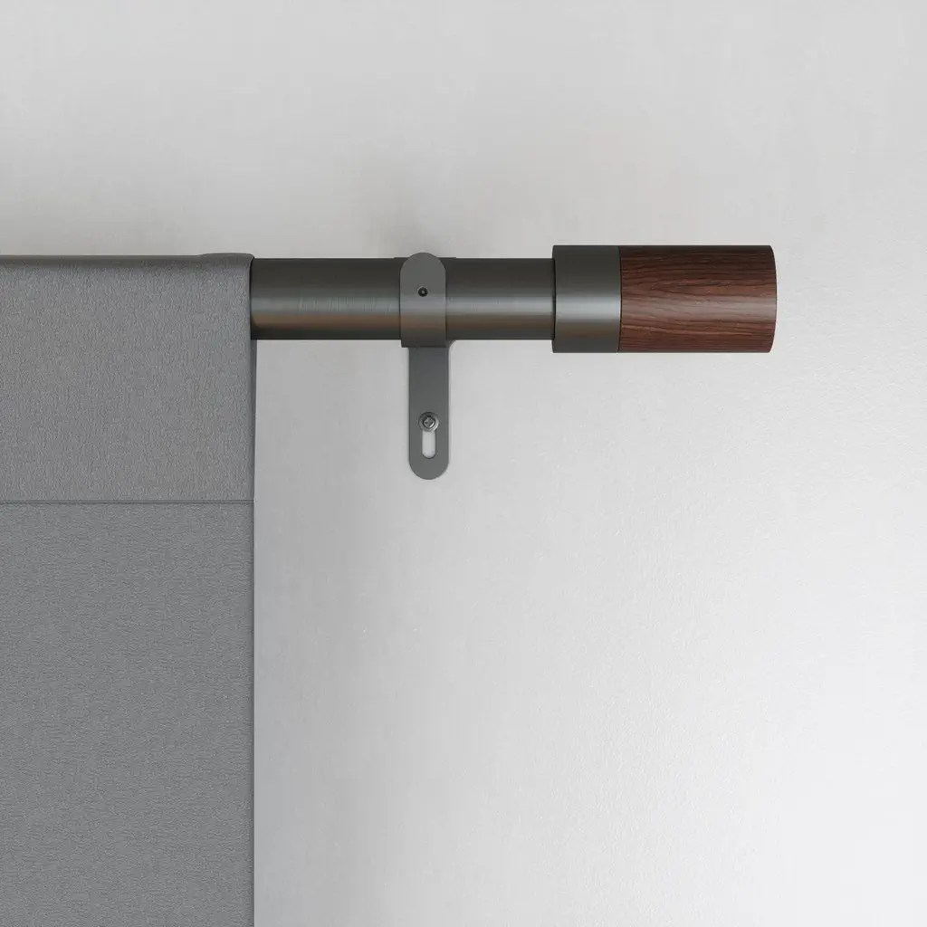 metal curtain rod blok umbra