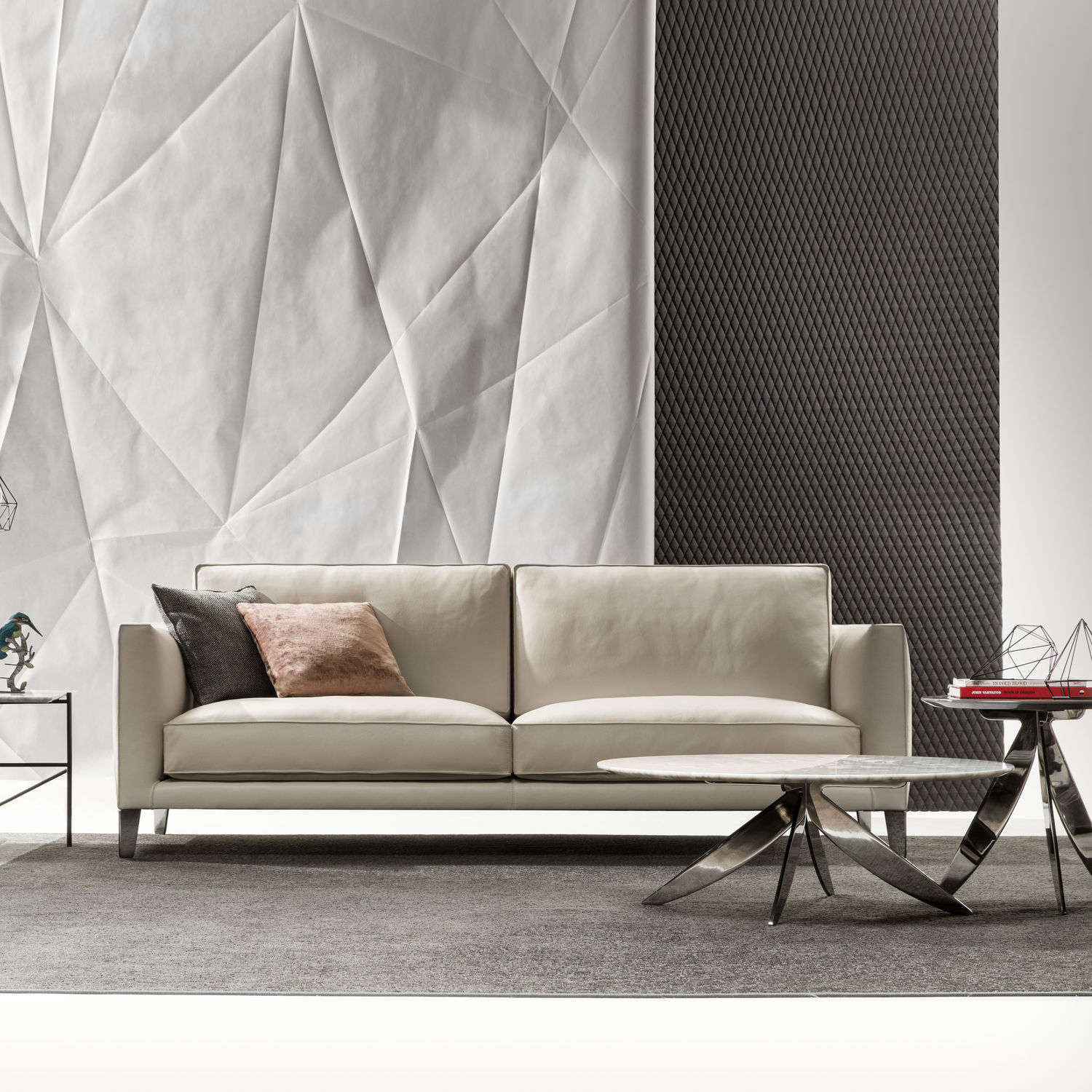 Berto Salotti Meda Contemporary Sofa Leather 4 Seater With Removable Cover