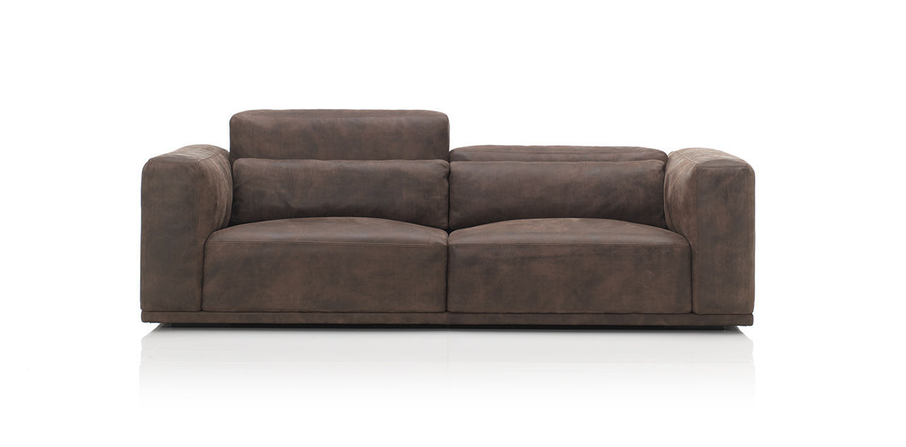 Modular Sofa Contemporary Leather 2 Seater Nabucco By. Modern Western  Stefano Leather Loveseat Great Ideas