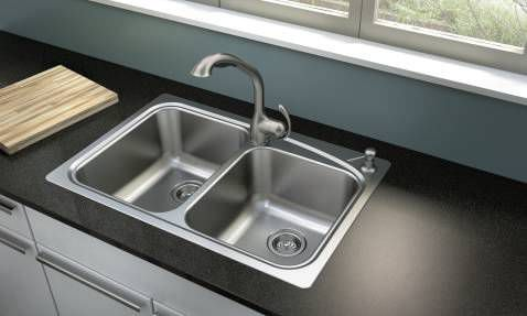 moen kitchen sink vulcan double stainless steel neva 21521