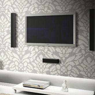 indoor mosaic tile wallpaper floral 2