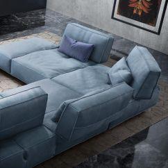 Gamma Sofas Contemporary Styled Futon Sleeper Sofa Bed Modular Leather 3 Seater Soho