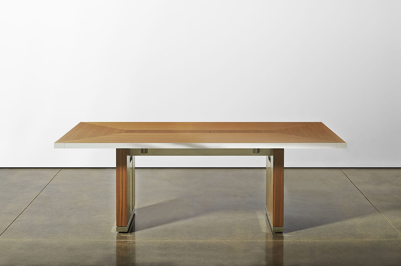 contemporary boardroom table wooden rectangular with integrated electrical outlet