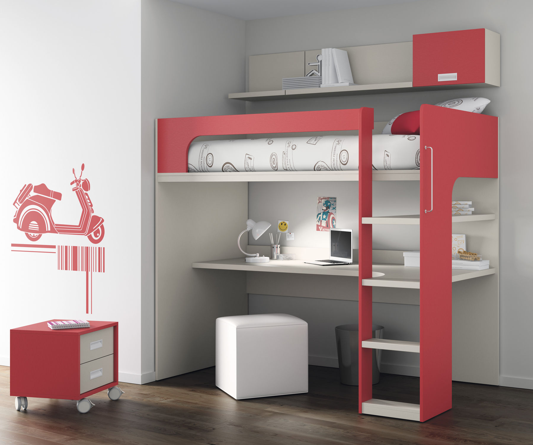 loft bed touch 69 ros 1 s a