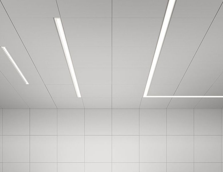 Recessed ceiling light fixture / LED / linear / extruded aluminum - TIME by bengt källgren - ATELJE LYKTAN