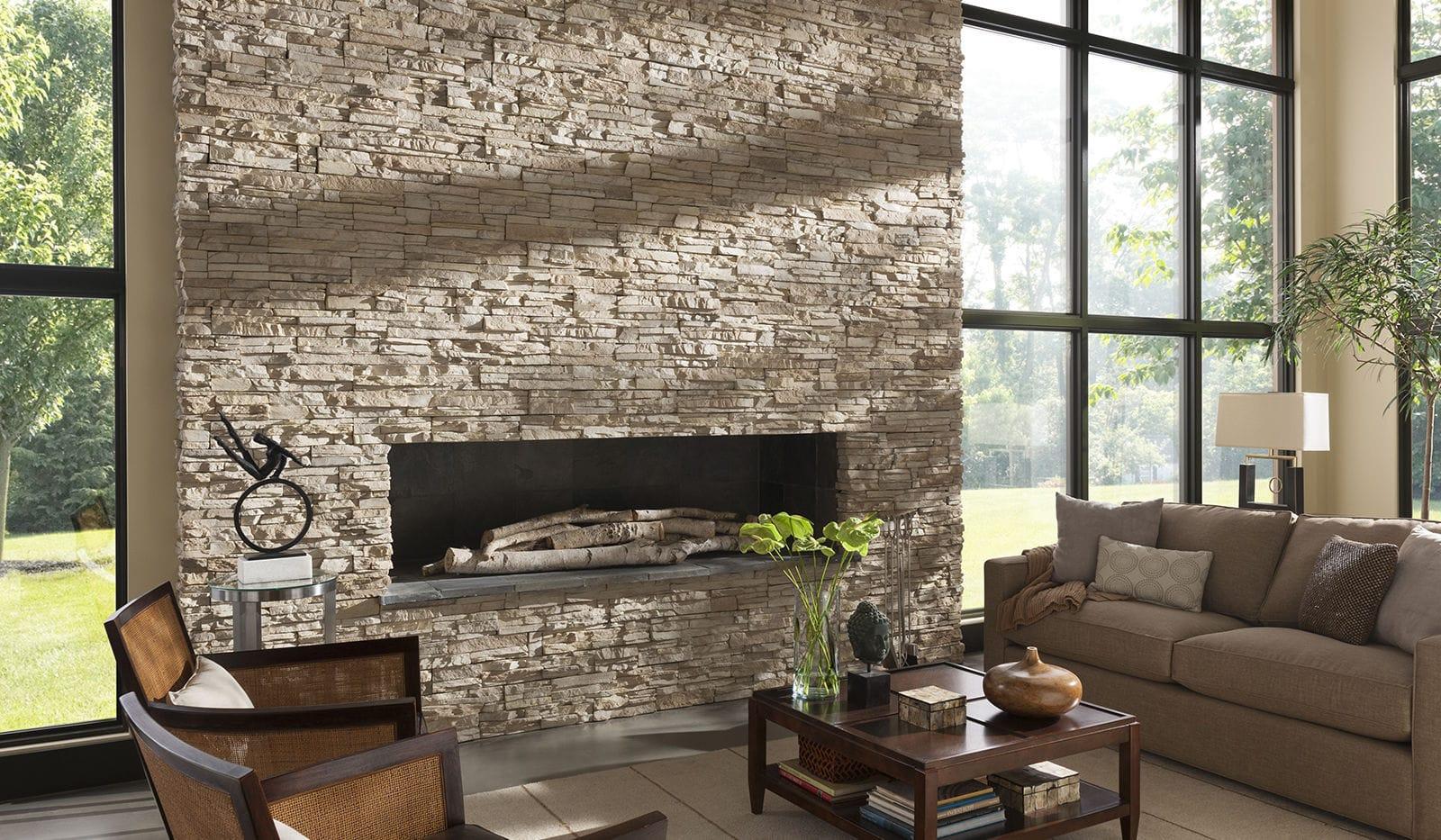 Stone wall cladding - STACKED : DRY CREEK - Eldorado Stone - interior / exterior / textured