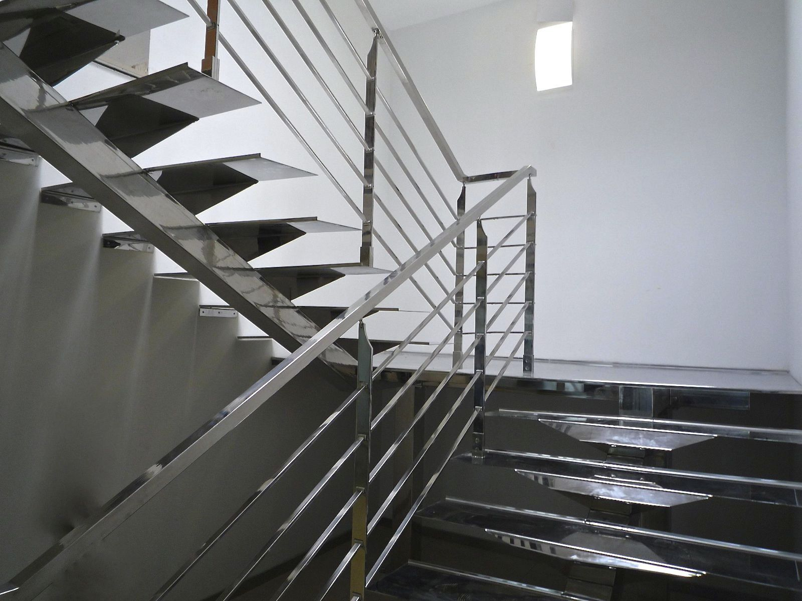 half turn staircase stainless steel frame stainless steel steps without risers manhattan inox poli