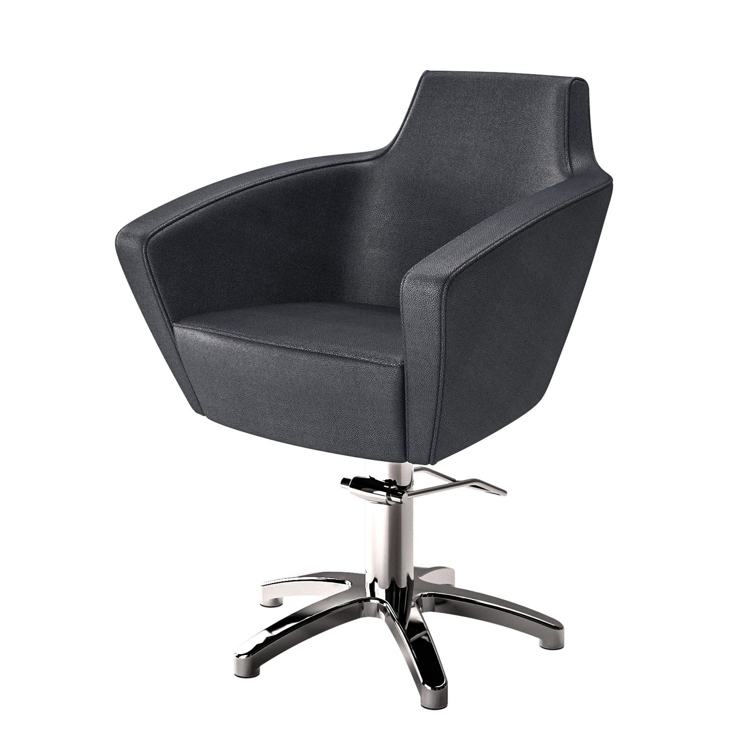 chair revolving steel base with wheels faux leather and a half synthetic beauty salon star swivel anita