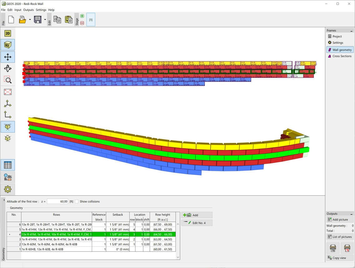Design software - REDI-ROCK - FINE - modeling / retaining wall