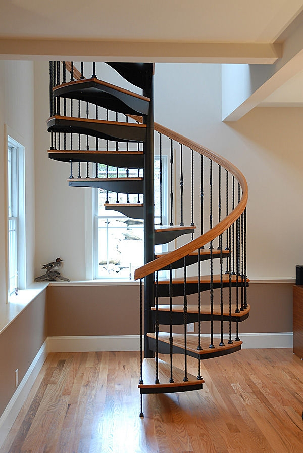 Spiral Staircase Fi Salter Spiral Stair Metal Frame Wooden | Spiral Staircase Wooden Steps | Tiny House | Wrought Iron | Rustic | Creative | 2 Story