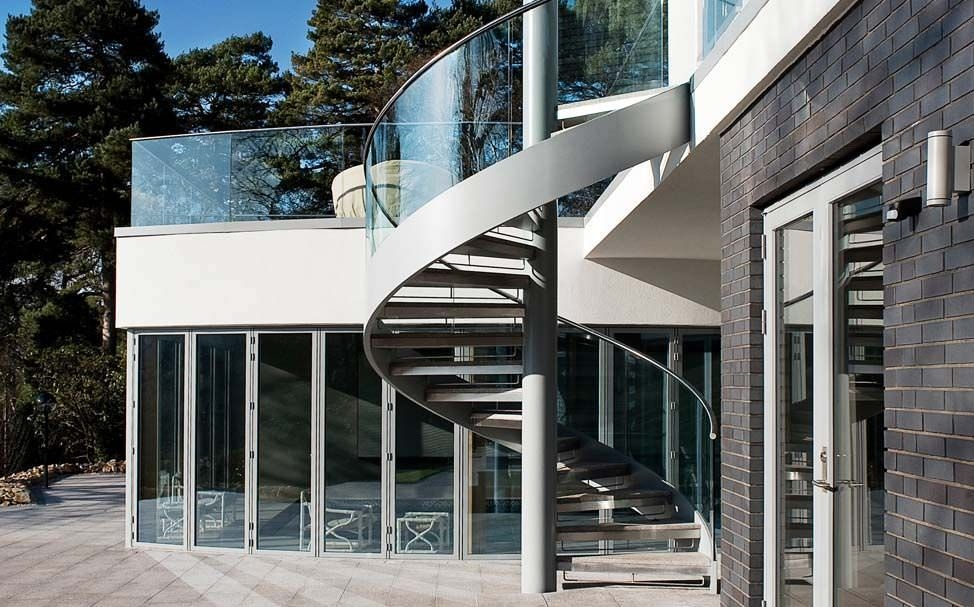 Spiral Staircase Mole Hill Canal Engineering Stainless Steel | Modern Stairs Design Outdoor | Indoor | Prefab Metal Residential Exterior | Terrace | Metal | Railing