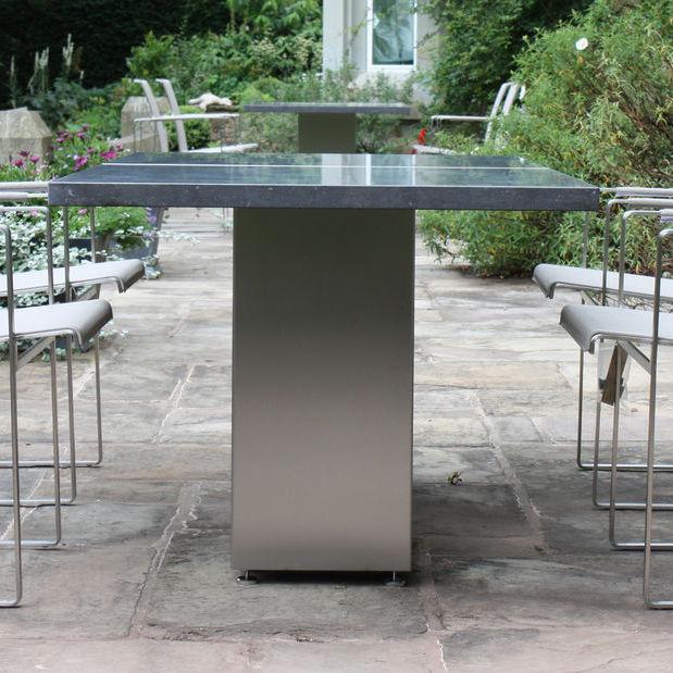 In legno, alluminio o in vetro | acquista su. Garden Table Doble Fueradentro Contemporary Teak Tempered Glass