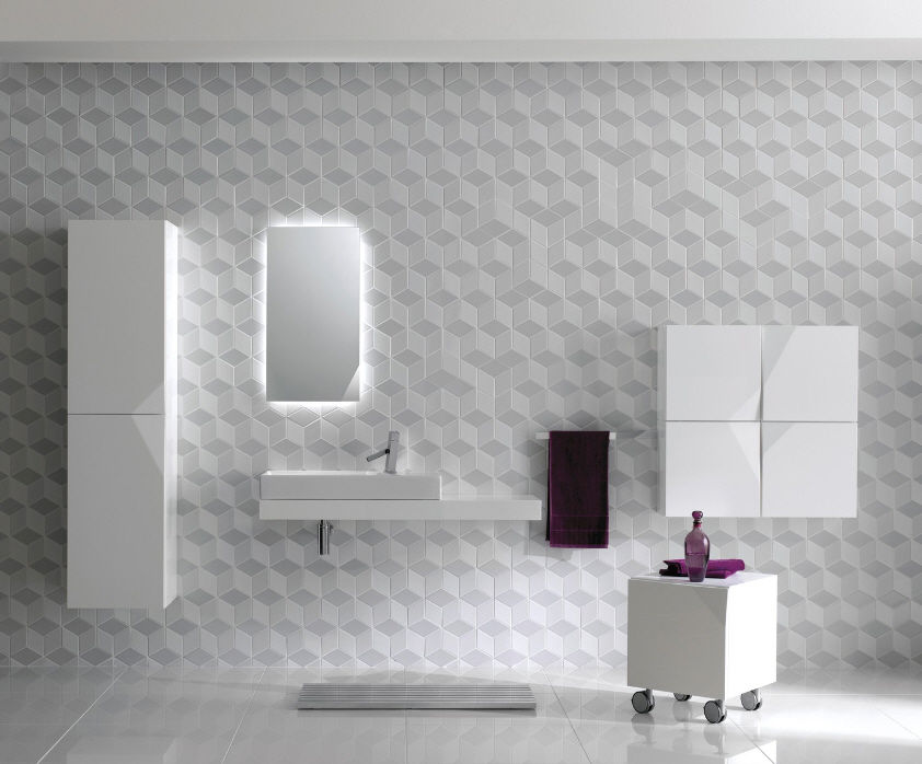 kale wall ceramic geometric pattern