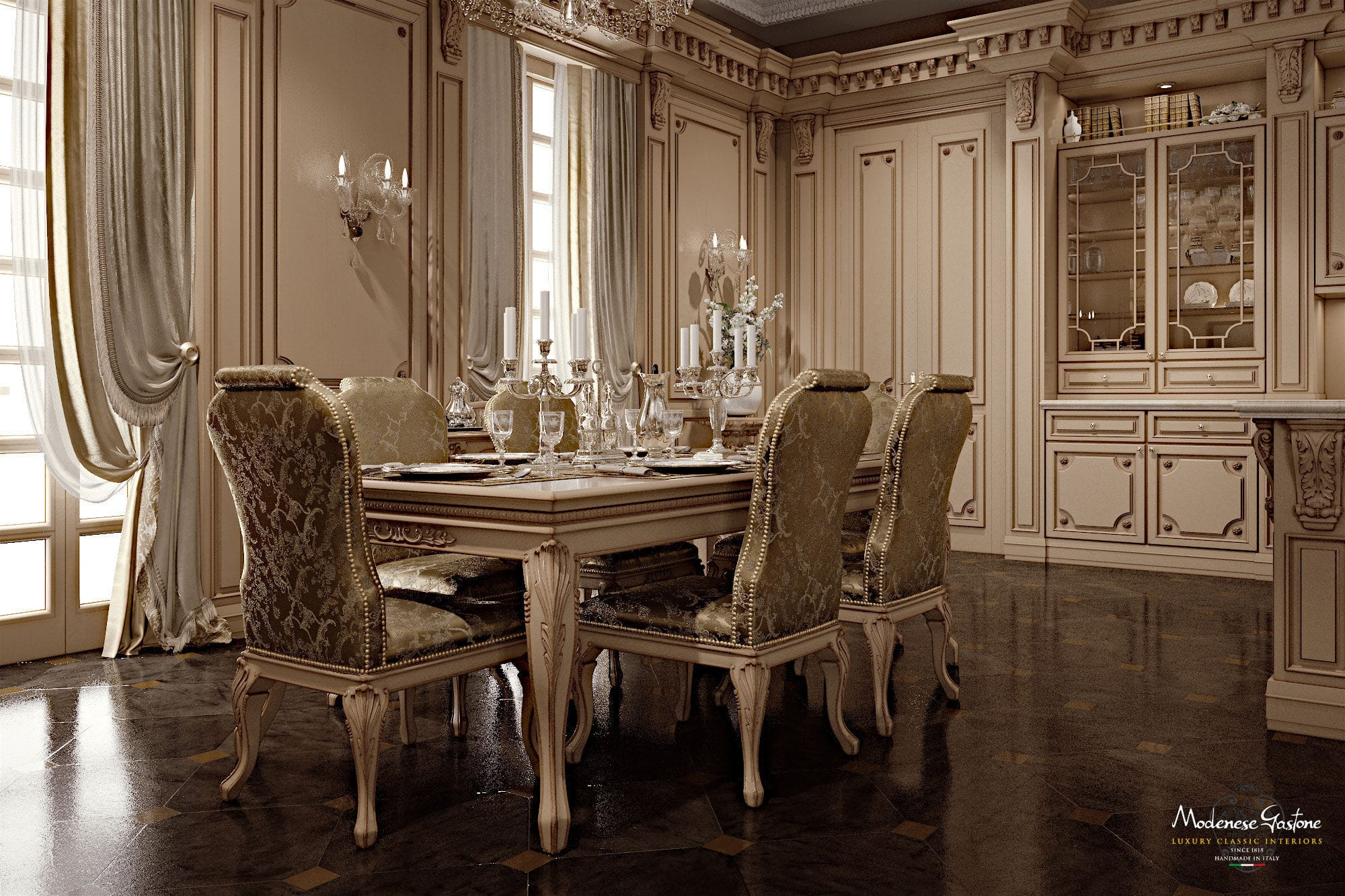 Classic kitchen   ROMANTICA   Modenese Interiors Luxury Furniture   wooden / lacquered / with ...