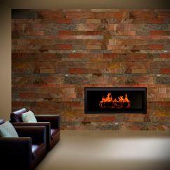 Living Room Tiles Wall Orange Rug Indoor Tile Slate Copper Val