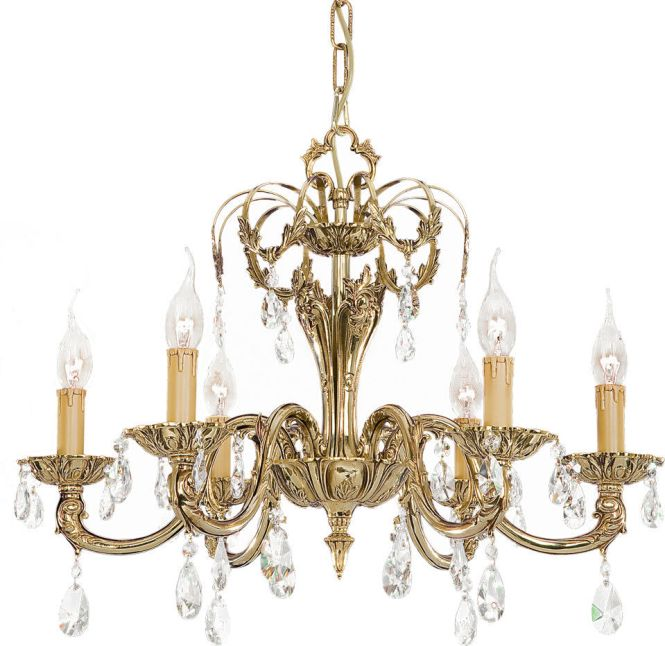 Classic Chandelier Brass Incandescent Roma 048a