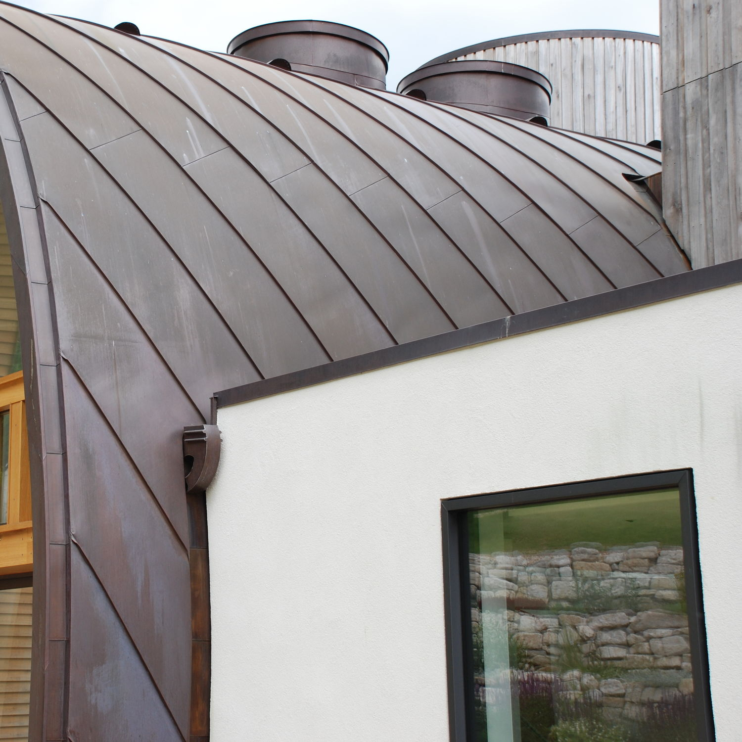 Zinc roofing - DOWNLEY HOUSE - Peters Roofing - standing seam