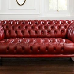 Leather Red Sofa Circle Chair Chesterfield 2 Person Goodwood