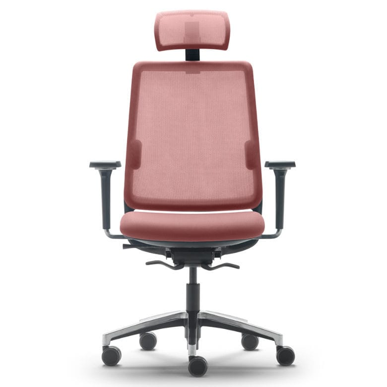 swivel chair operations bariatric potty contemporary office armchair mesh on casters sense by josep llusca