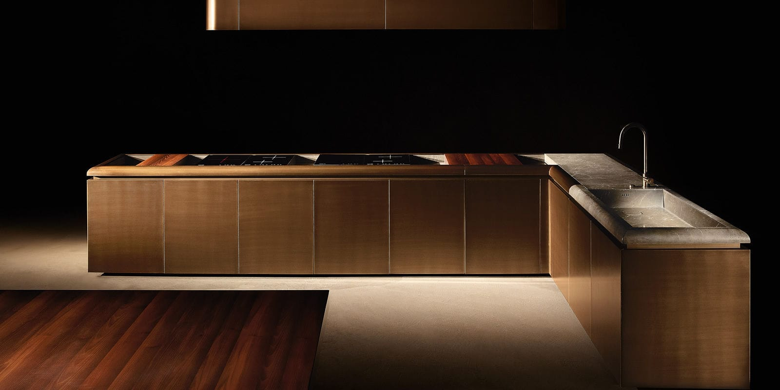 Image result for Contemporary kitchen / marble / wood veneer DC10 vincent
