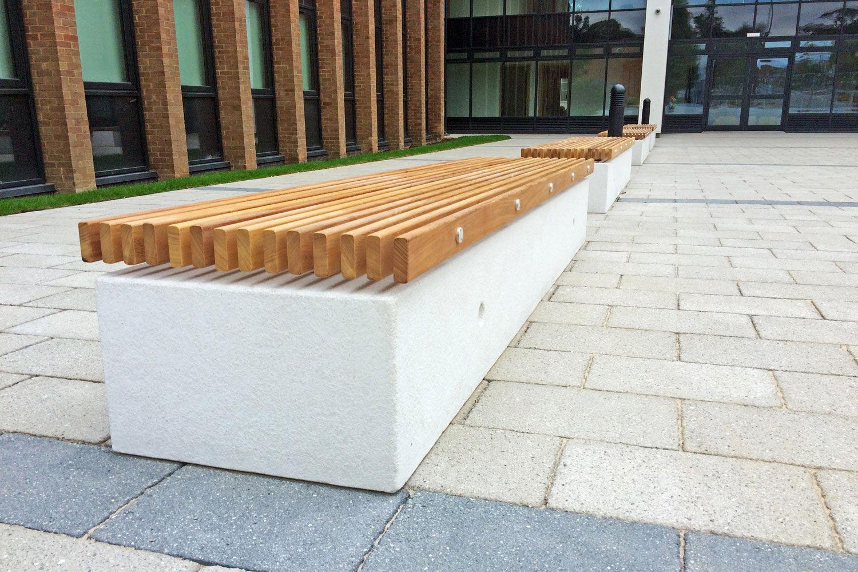 Public bench - SOCA - Factory Street Furniture - contemporary / wooden / galvanized steel
