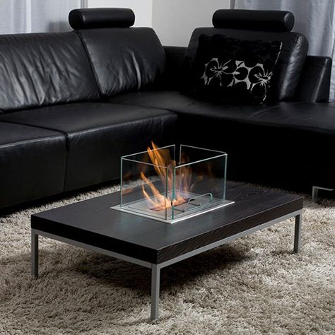 contemporary coffee table insert