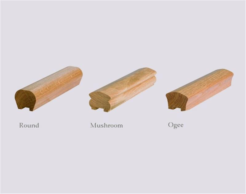 Wooden Handrail Oak Broadleaf Timber   Oak Wall Mounted Handrail   Oak Stair   Mopstick   Return   Handrail Bracket   Contemporary