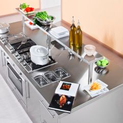 Kitchen Work Station Discount Islands Contemporary Stainless Steel Island With Handles